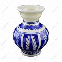 Vaza din ceramica de Corund pictat cu motive traditionale - Micuta