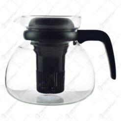 Ceainic din sticla termorezistenta cu infuzor 1.5 L