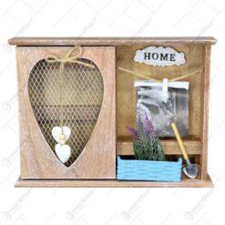 Cutie pentru cheie cu rama foto realizata din lemn
