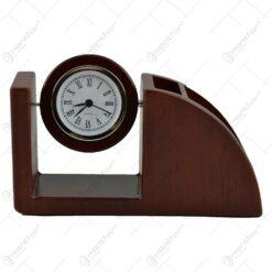 Suport pentru birou cu doua compartimente si ceas analogic