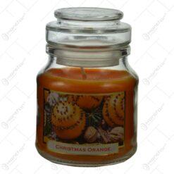 Lumanare parfumata in borcan de Craciun - Christmas Orange