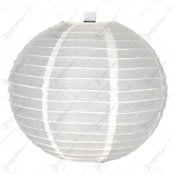 Lampion realizat din hartie in forma de glob - Crem (30cm)