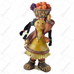 Figurina fata indian realizata din rasina
