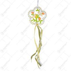 Decoratiune pentru usa - Design cu floare si pasari