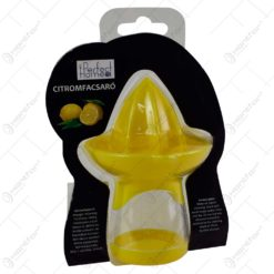 Storcator de citrice cu recipient realizat din material plastic