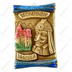 Aplica din gips in forma de pergamen - Tip vertical - Dracula
