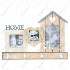Cuier cu rama foto realizat din lemn