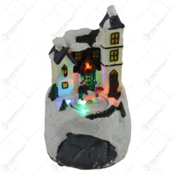 Ornament muzical pentru Craciun - Casa cu zapada