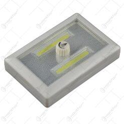 Lampa realizata din plastic cu led si cu comutator de intensitate a luminii