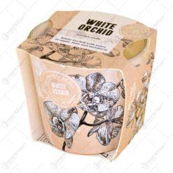 Lumanare parfumata in pahar - Orhidea - 2 arome
