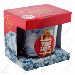 Frapiera gheata din sticla in cutie decorativa - Too Hot Woman