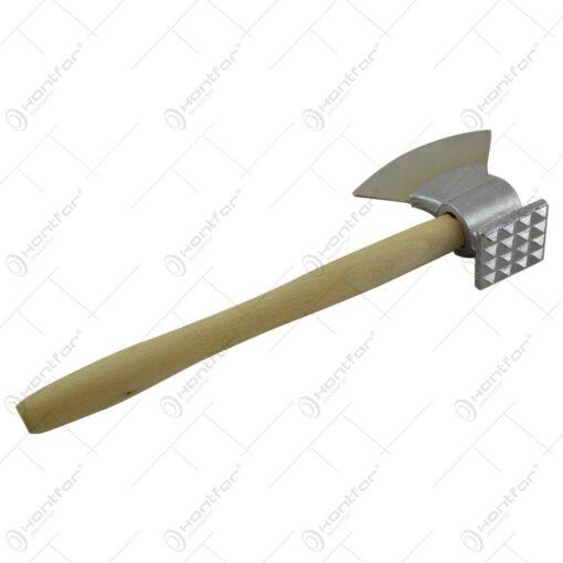 Toporas / Batator pentru carne realizat din metal si lemn - 2 modele