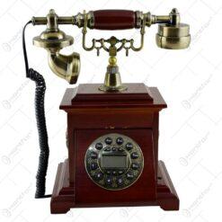 Telefon antic realizat din lemn (Model 1)