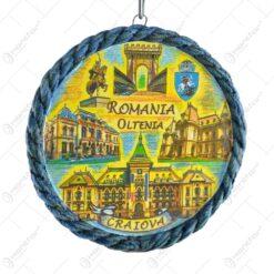 Aplica din ipsos rotund vopsit 10CM - Dracula/Romania
