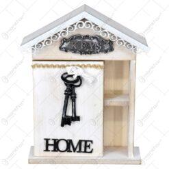 Cutie pentru chei realizat din lemn si metal - Home - Design Elegant (Tip 1)