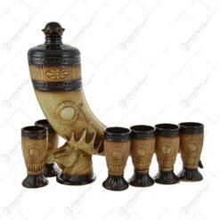 Set pentru servirea vinului realizat din ceramica - Design Corn