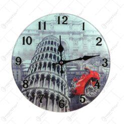 Ceas de perete cu design Italia - Rotund