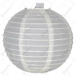 Lampion realizat din hartie in forma de glob - Crem (20cm)