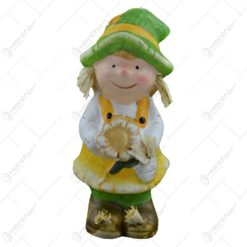 Figurina decorativa pentru toamna realizata din ceramica - Copil - 2 modele