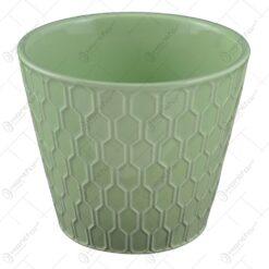 Ghiveci realizat din dolomit - Verde (Model 2)