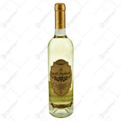 """Vin alb 0.75l cu eticheta personalizata din pluta - Design """"A legjobb testvernek!"""""""