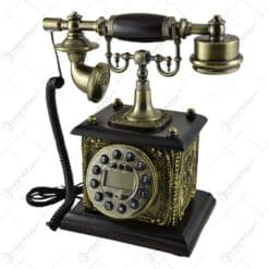 Telefon antic realizat din lemn (Model 4)
