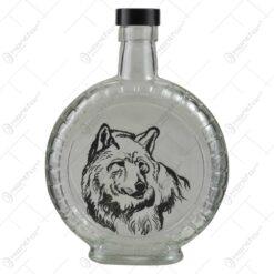 Plosca realizata din sticla cu dop de plastic - Design Desen - Diferite modele