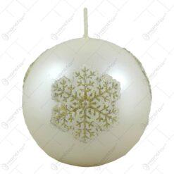 Lumanare craciun in forma de glob - Design Christmas Snow - Diferite culori