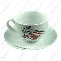 Ceasca cu farfurie - A legszuperebb nagymamanak - Funny Mug