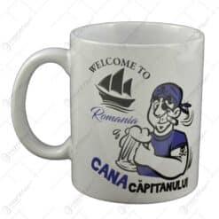 "Cana realizata din ceramica - ""Cana capitanului"" - Welcome Romania"