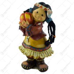 Figurina fata indian realizata din rasina (18CM)