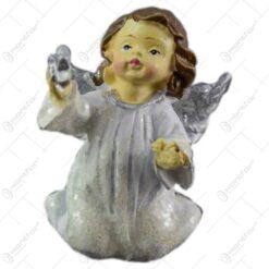 Figurina decorativa pentru Craciun realizata din ceramica - Ingeras - 2 modele (Model 2)