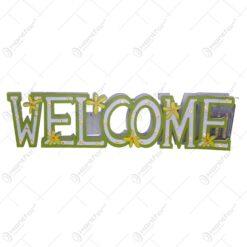 Decoratiune de primavara in forma de litere - Welcome