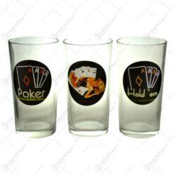 Set 3 pahare pentru apa realizate din sticla - Design Elegant