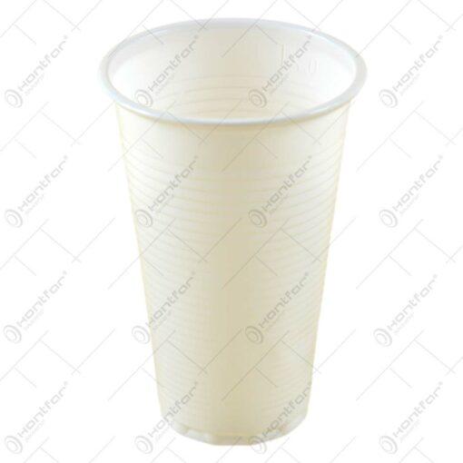 Set 20 pahare de unica folosinta realizate din plastic (2 DL)