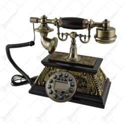 Telefon antic realizat din lemn (Model 2)