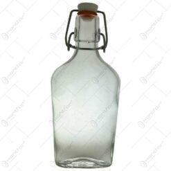 Sticla realizata in forma de plosca cu dop din cauciuc (Tip 1)