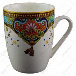 Cana realizata din ceramica - Design cu flori - Diverse modele (Model 1)