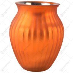Vaza pentru flori realizata din sticla - Design Clasic - Portocaliu (Tip 1)