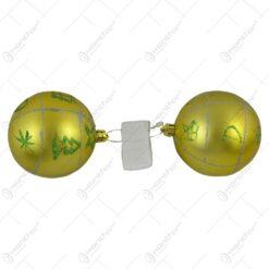 Set 6 globuri aurii pentru brad (Model 4)
