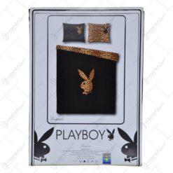 Lenjerie de pat pentru 2 persoane - Design Playboy - Leopard
