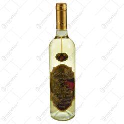 "Vin alb 0.75l cu eticheta personalizata din pluta - Design ""Egy jo bor egy jo baratnak!"""