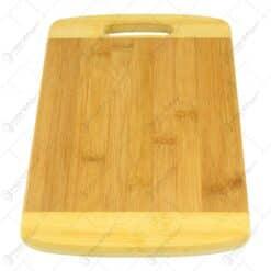 Tocator cu maner realizat din bambus - Mediu