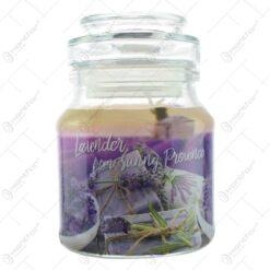 Lumanare parfumata in sticluta - Aroma de lavanda