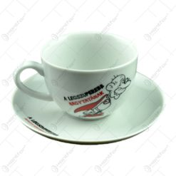 Ceasca cu farfurie - A legszuperebb nagytatának - Funny Mug
