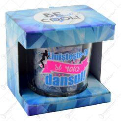 Frapiera gheata din sticla in cutie decorativa - Linisteste-te si reia dansul!