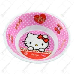 Farfurie adanca realizata din melamina - Design Hello Kitty