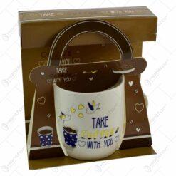Cana realizata din ceramica in cutie - Design coffee - Diverse modele