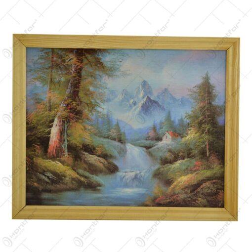 Tablou in rama realizata din lemn - Design Peisaj