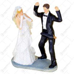 Figurina decorativa pentru tortul de nunta - Mirii Poly